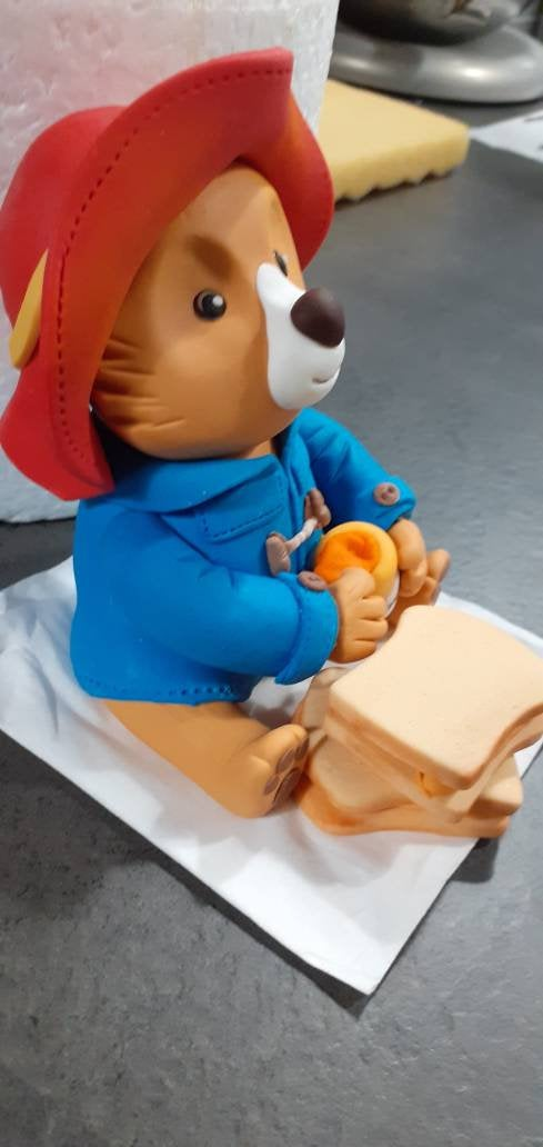 Wedding - Paddington bear fondant gum paste cake topper