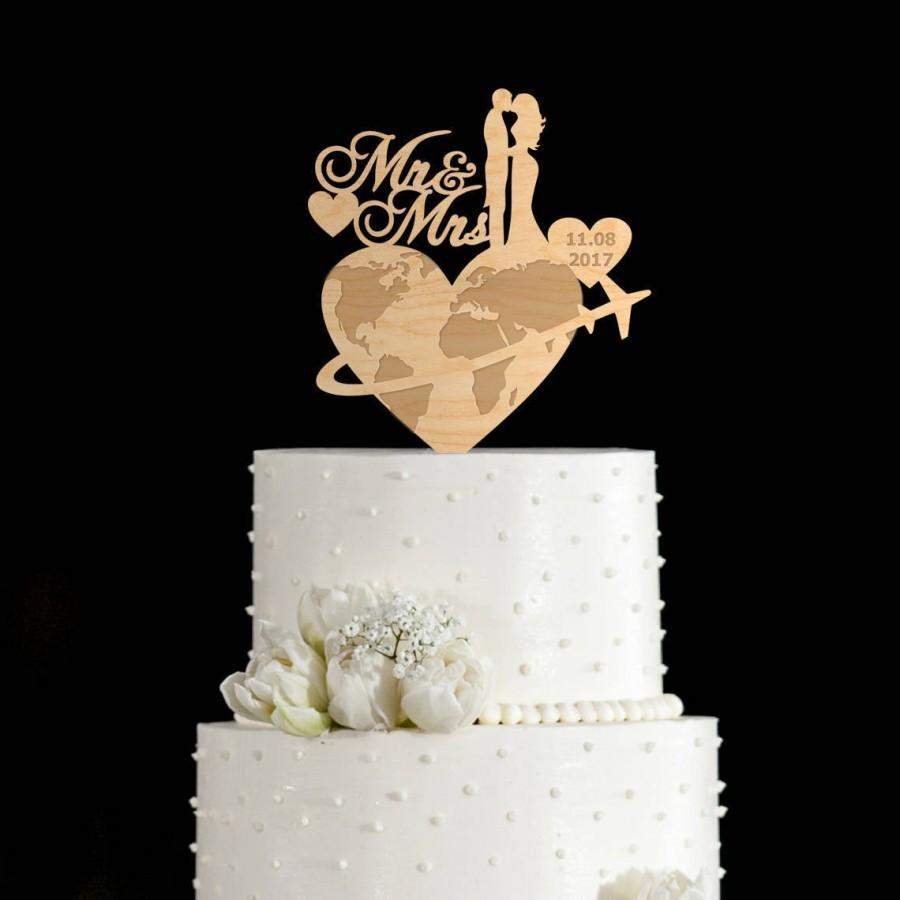 Wedding - Travel cake topper,travel wedding cake topper,cake topper travel,travel wedding,travel theme wedding,wedding cake topper travel,663