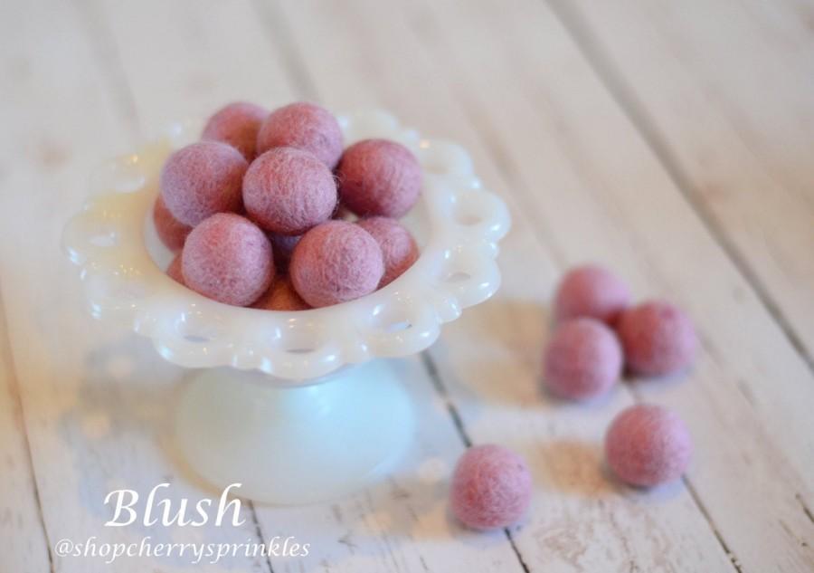 Wedding - BLUSH -1cm - 2cm 100% Wool Felt Balls -Felt Pom Pom *Pink Wool Balls, DIY Pom Pom Garland - DIY Felt Ball Garland * Wool Balls *Mantel Decor