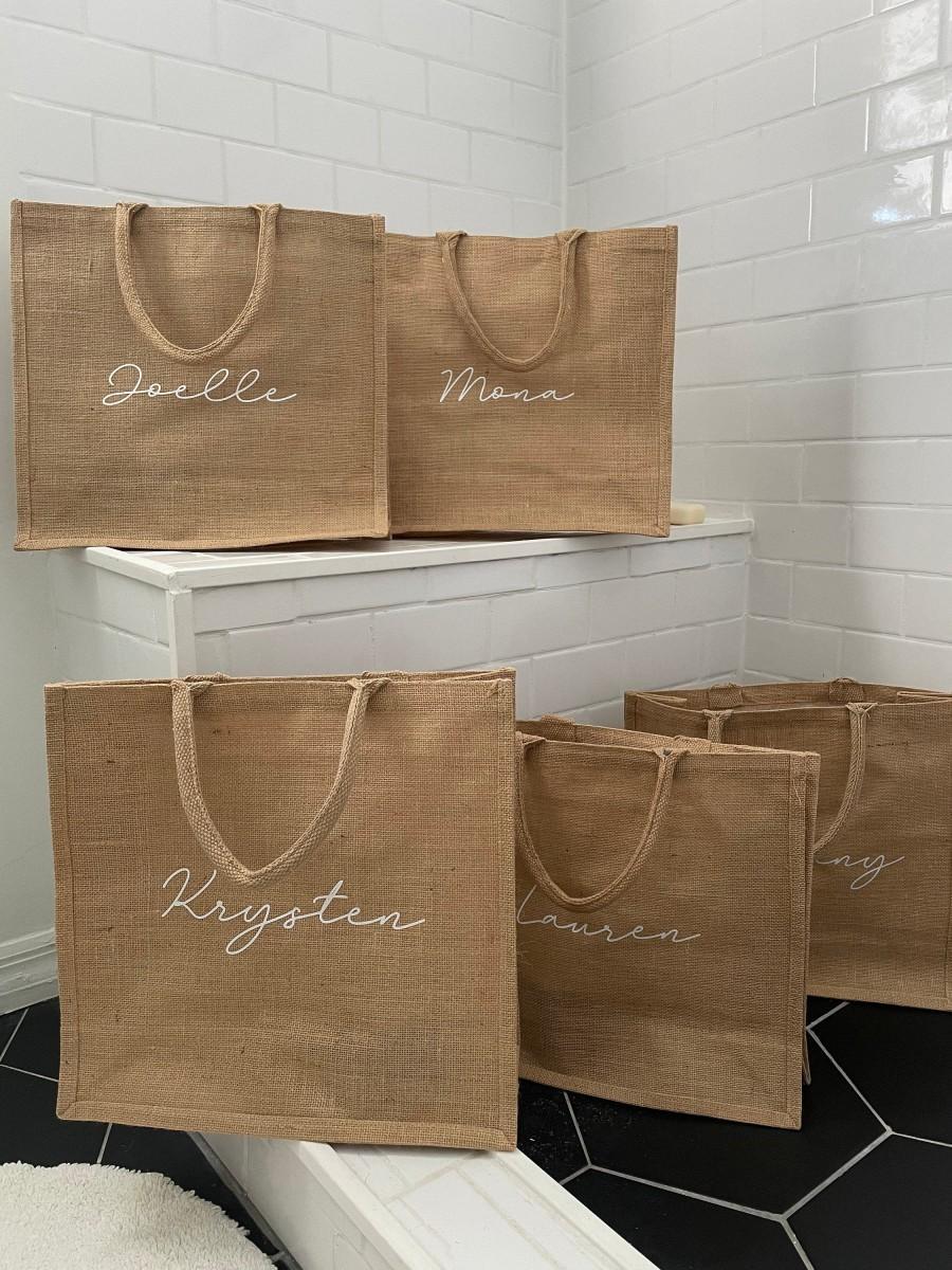 Wedding - Burlap Bags Burlap Bag Burlap Tote Bag Burlap Tote Burlap Beach Bag Personalized Burlap Bags Custom Burlap Bag Burlap Tote Bag Personalised