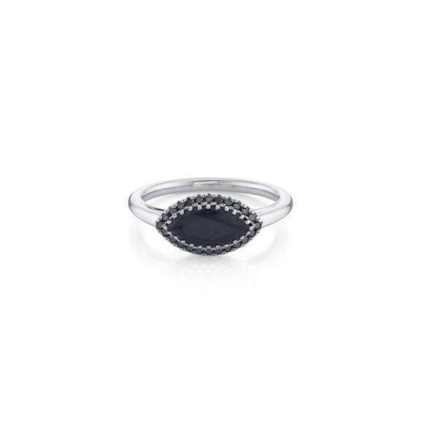 Wedding - Perfect 5 Ct Big Black Diamond Ring