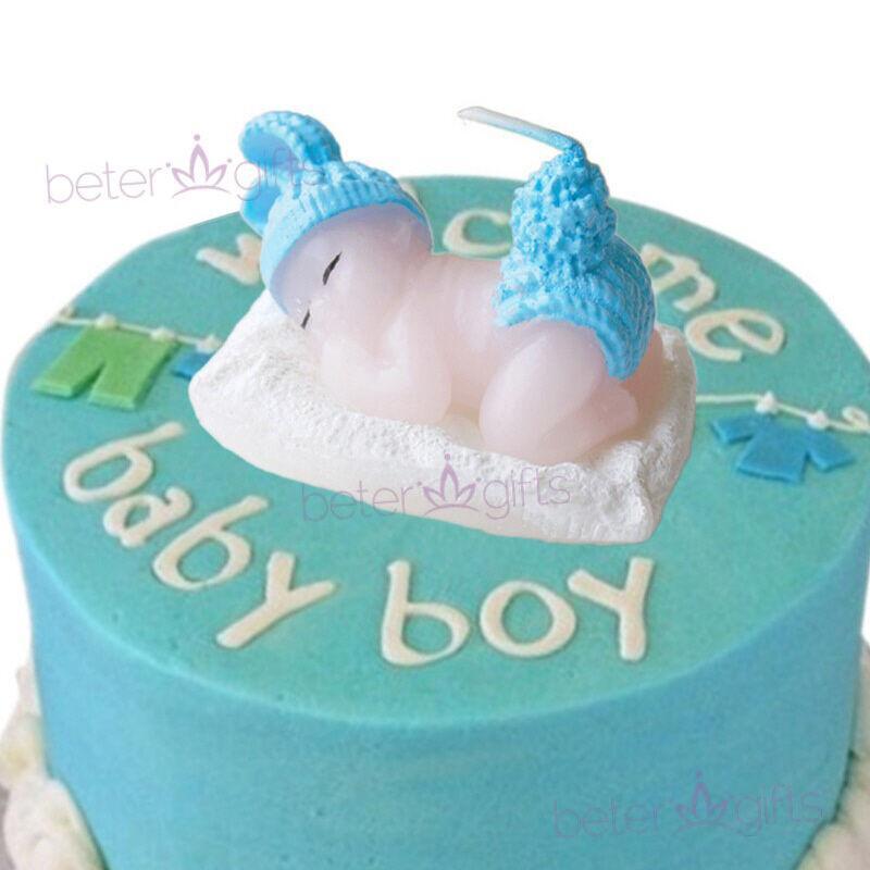 Wedding - 藍色 #奶瓶小蠟燭 Baby Shower禮品百日宴小禮物 #滿月酒 #蛋糕裝飾品 HH053 #beterwedding
