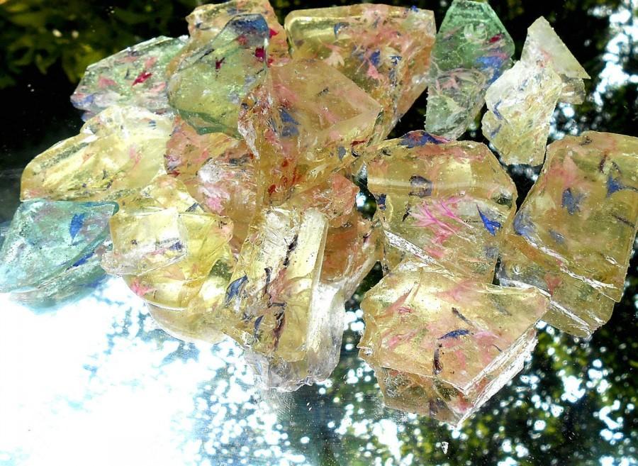 Wedding - Jewels of Sea Glass, Rock Candy, Chunks, Sparkle, Wedding Cake, Cake Decorations 1/2 pound