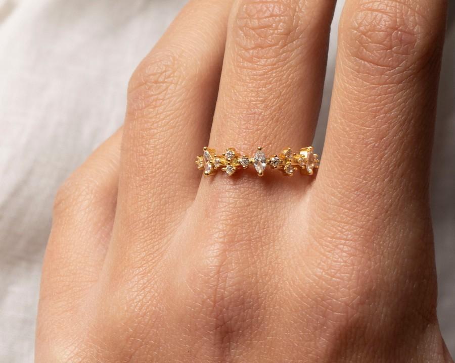 Wedding - Gold dainty ring, Stacking cz ring, Minimalist ring, Cz gold ring, Delicate ring, Dainty jewelry, Minimalist jewelry, stack rings