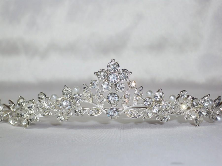 Wedding - Rhinestone Tiara Crown Hairpiece Headpiece Headband Hairband Bridal Prom Bridesmaid Quinceanera Party Birthday Princess Children Flower Girl