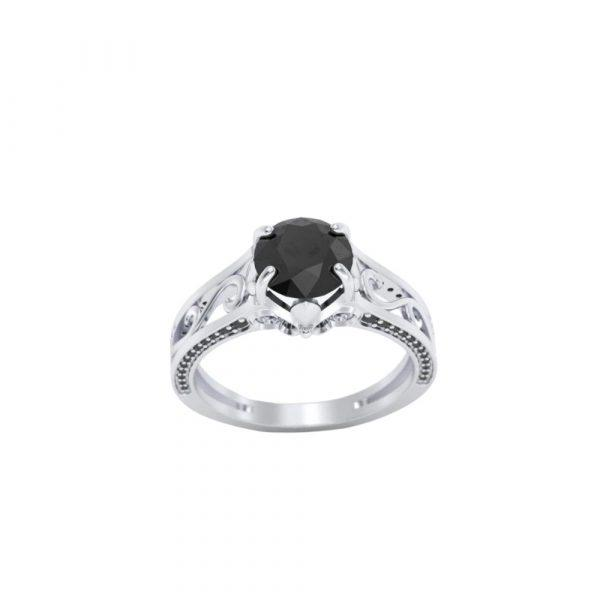 Свадьба - Good-Looking 2.50 Ct Engagement Rings With Black Diamonds On The Side