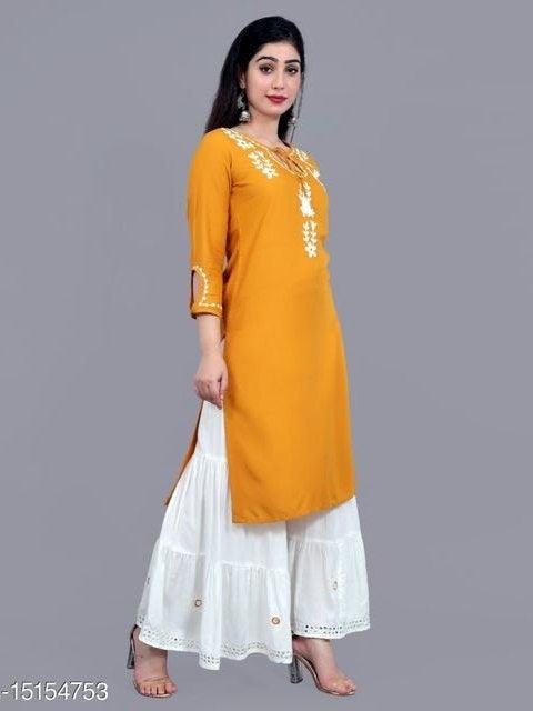 Свадьба - Shree shyam Yellow kurti in reyon