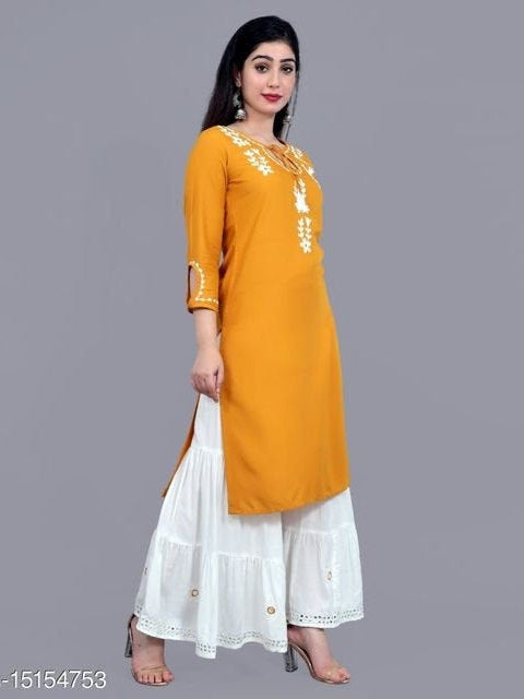 Wedding - Shree shyam Yellow kurti in reyon