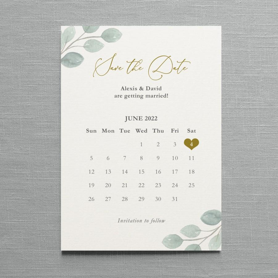 زفاف - Eucalyptus Calendar Save the Date or Change the Date, card or magnet. Eucalyptus wedding, greenery wedding