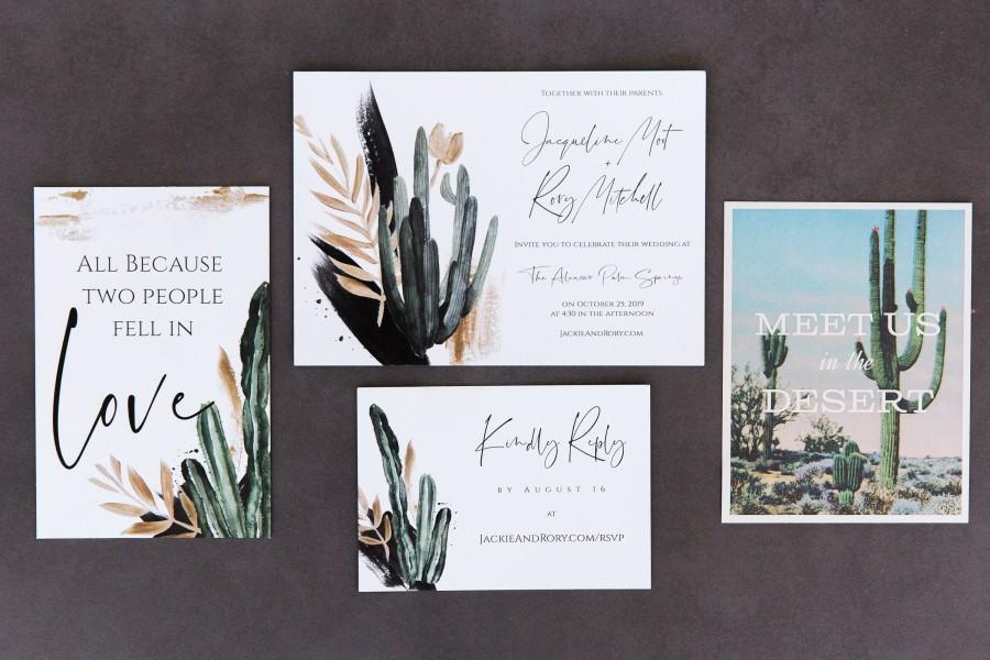 Wedding - Cactus Wedding Invitation Set Template Download, Printable Desert Wedding Invitation Suite, Arizona Wedding, Phoenix Wedding, Editable, Zoe