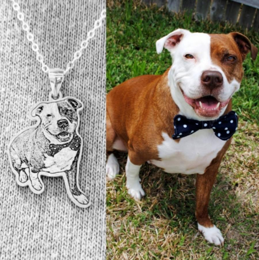 Wedding - Custom Necklace for Woman,Picture Necklace,Pet Photo Necklace,Personalized Necklace Photo Pendant,Cat,Dog Necklace,Pet Memorial Gift