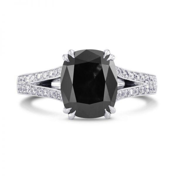 Mariage - 2 Carat Elongated Cushion Cut Engagement Ring Split Shank Engagement Ring