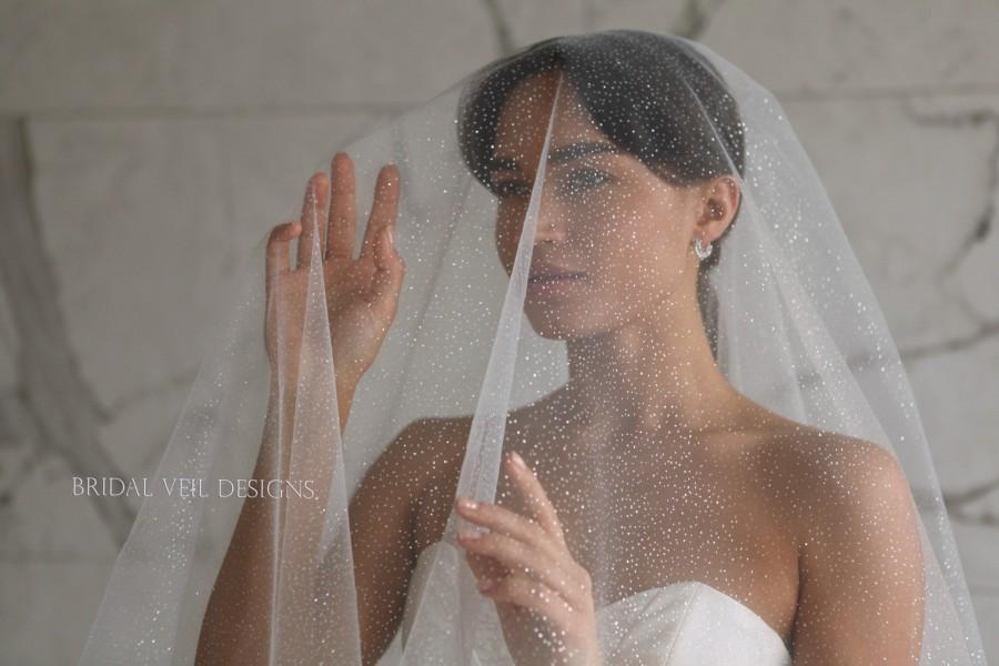 Свадьба - Glitter wedding veil