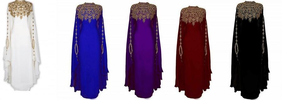 Mariage - SALE !! Royal Islamic Modern Elegant Dubai Moroccan Caftan Arabic party wear Beach kaftan Farasha Maxi Floor Length Dresses Takshita Var
