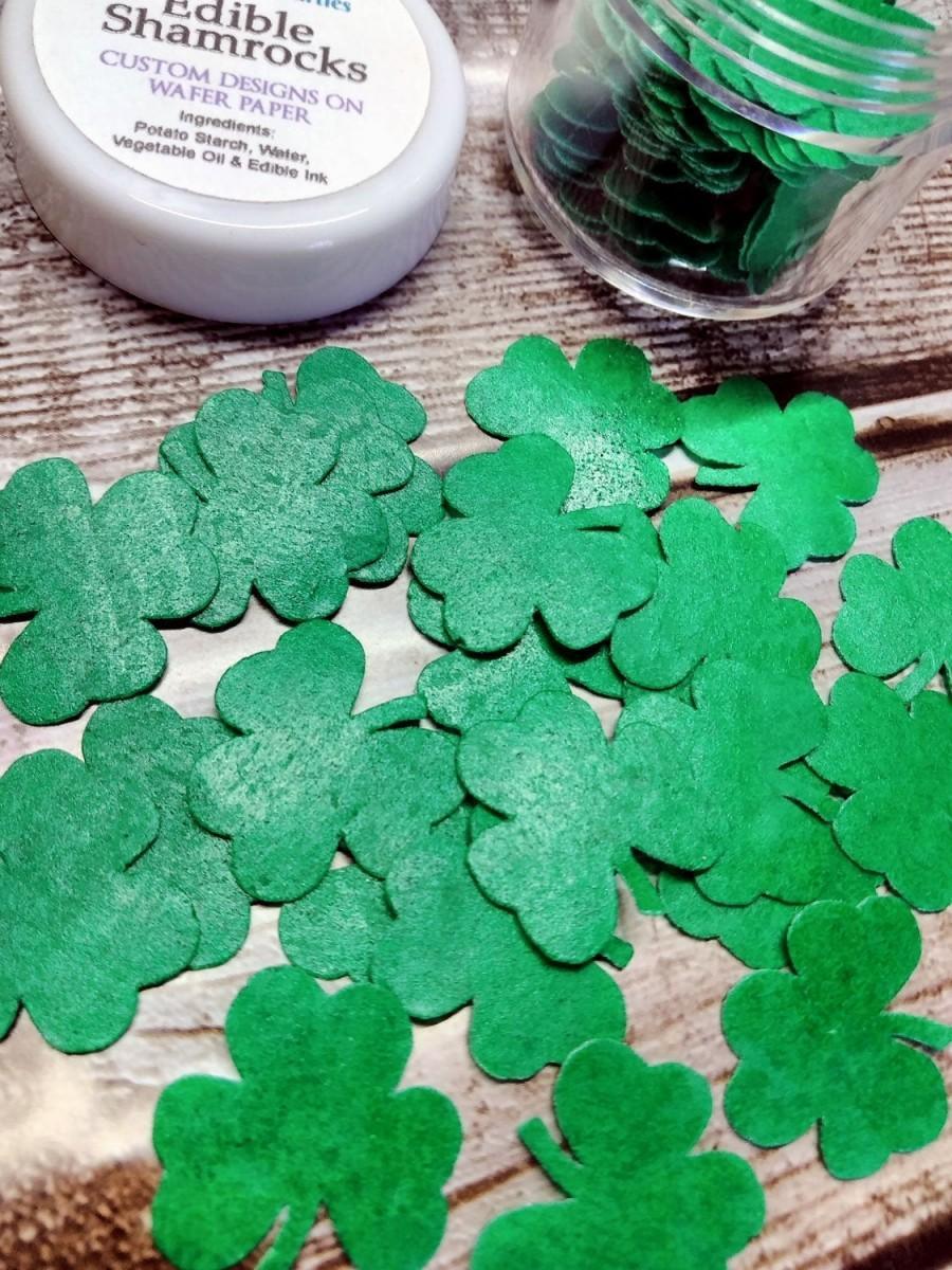 زفاف - Mini Shamrocks Cake Decorations, Cocoa Bomb Sprinkles, Wafer Paper Sprinkles, Edible Cake Decorations, Drink Decorations, St Patricks Day