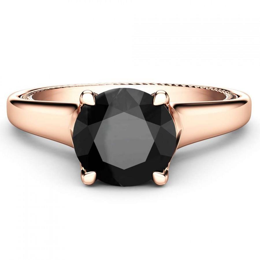 Wedding - Beautiful 14k Rose Gold Diamond Engagement Ring In 1 Carat