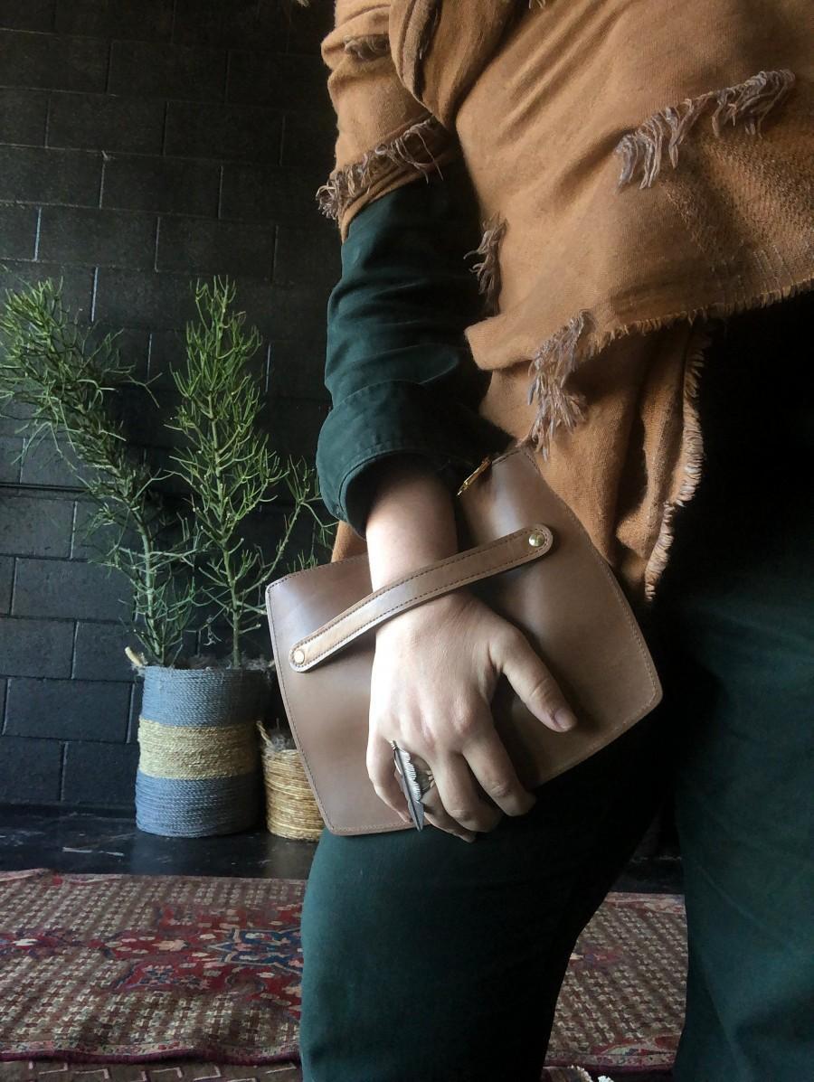 Hochzeit - 100% Leather Clutch Locally Made