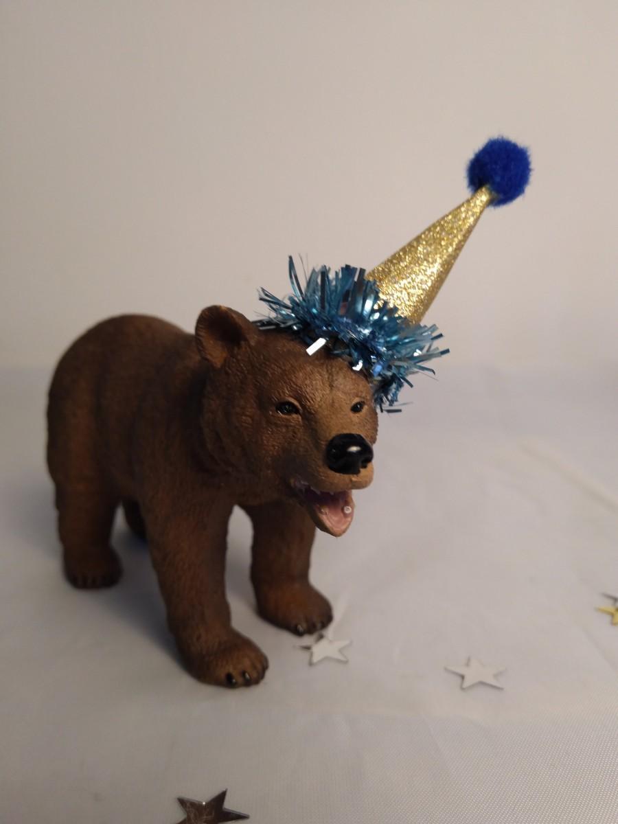 زفاف - Animal cake topper, schleich mummy bear, party animal, cake decoration, kids birthday.