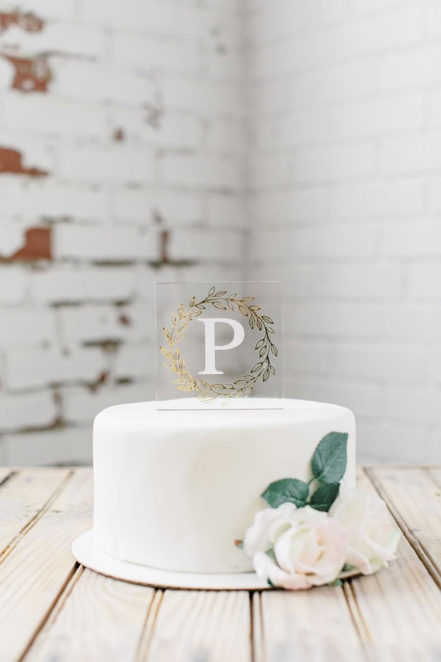 Hochzeit - Acrylic Cake Topper
