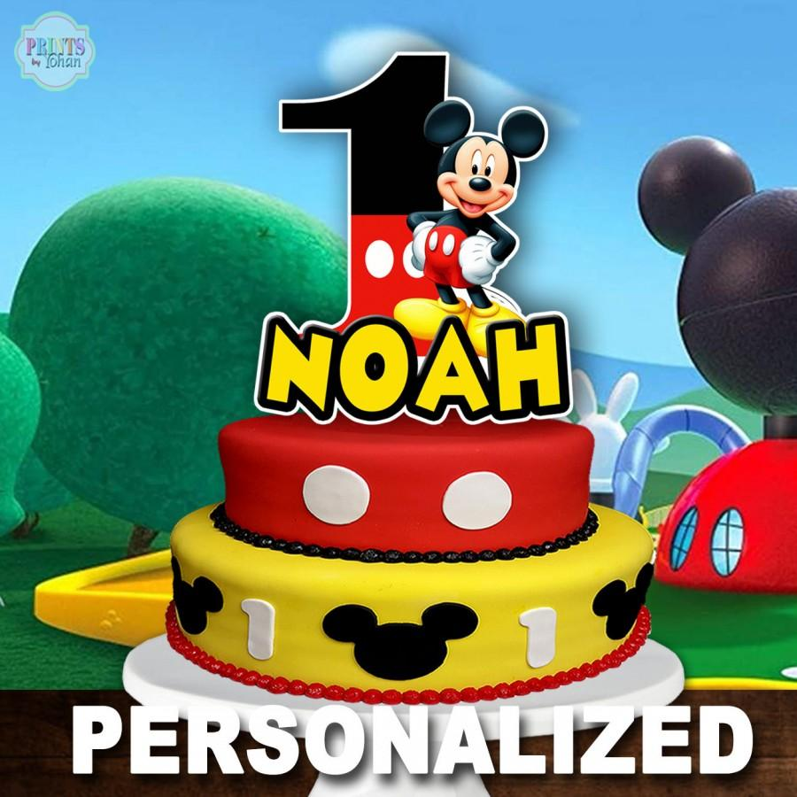 Hochzeit - MICKEY MOUSE Cake Topper, Mickey Mouse 1st Birthday Cake Topper, Mickey Mouse Centerpiece, Cake Decoration, Mickey Mouse Clubhouse