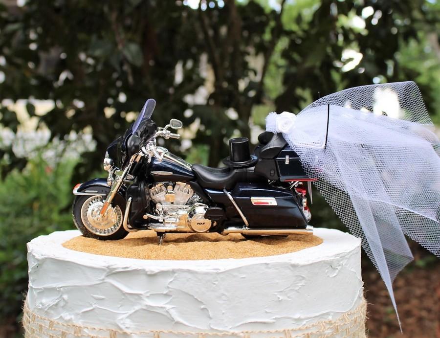Mariage - Motorcycle Cake Topper, 2013 Harley Davidson FLHTK Electra Glide Ultra Limited Wedding Cake Topper, Harley Cake Topper