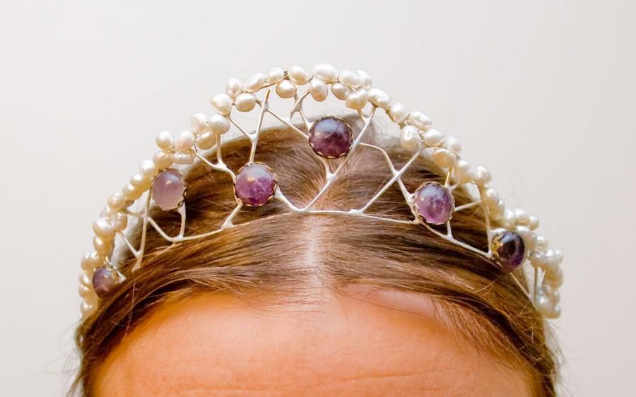 "Mariage - Asymmetrical crown ""Princess of the seas"""