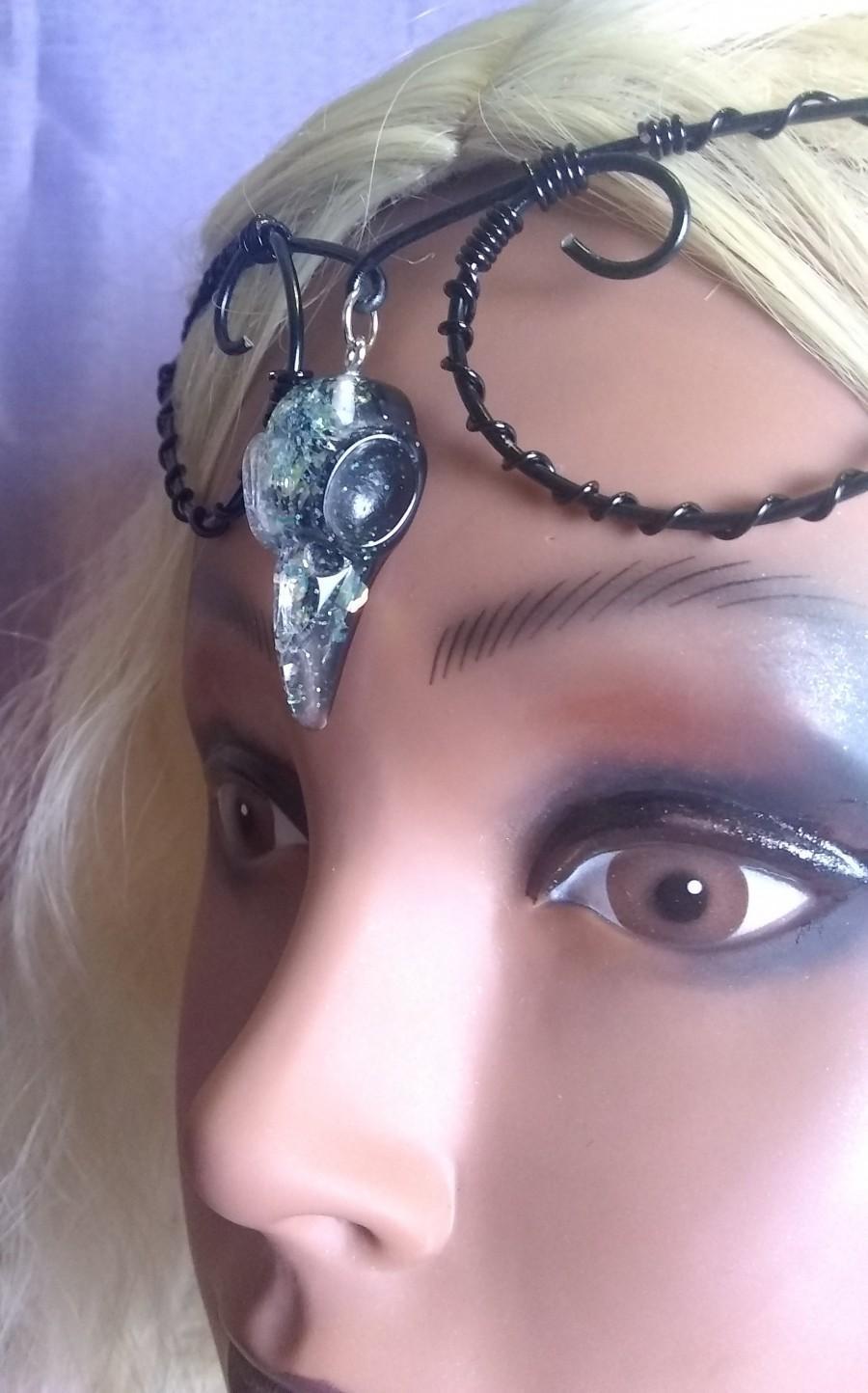 Mariage - Raven witchy goth circlet crown