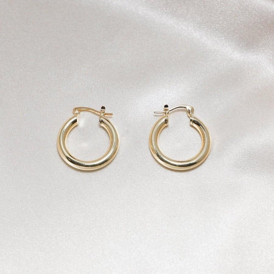 Wedding - 18K Gold Hoop Earrings - Chunky Hoop Earrings - Statement Hoop Earrings - Chunky Gold Hoops - Minimalist Hoops - Gift for Her
