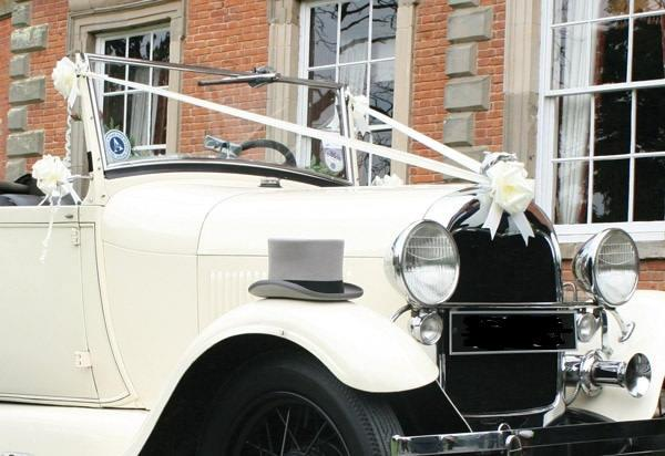 Hochzeit - Luxury Ivory, White, Silver, Gold Wedding Car Kit Waterproof Decoration 5 Large Bows and Ribbon 10mts other colours available