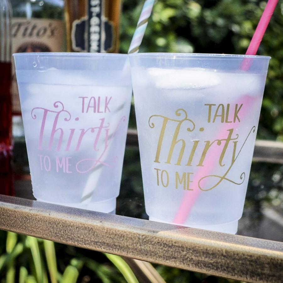 زفاف - Talk Thirty to Me 30th Birthday Party Cups, Customizable Cups, Personalized Birthday Cups, Plastic Party Cups, Personalized Party Favor