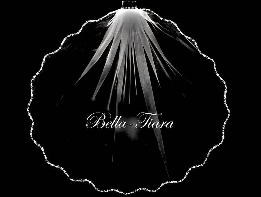 زفاف - beaded wedding veil, crystal pearl beaded veil, scalloped veil, wedding veil, beaded bridal veil, cathedral beaded veil, cathedral veil