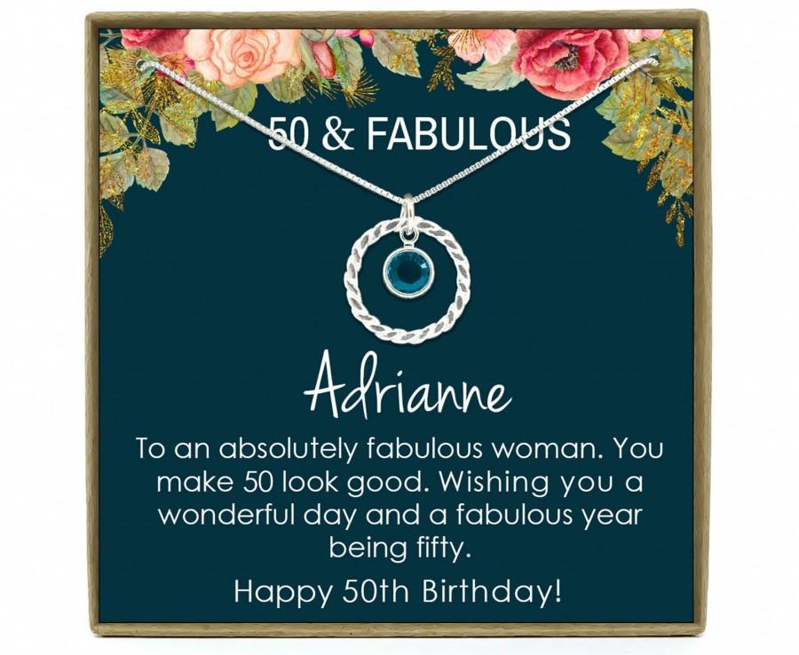 Свадьба - 50th Birthday Gift for Women, 50th Birthday Gift for her, 50th Birthday Gift for Woman, 50th Birthday Gift Idea, Sterling Silver