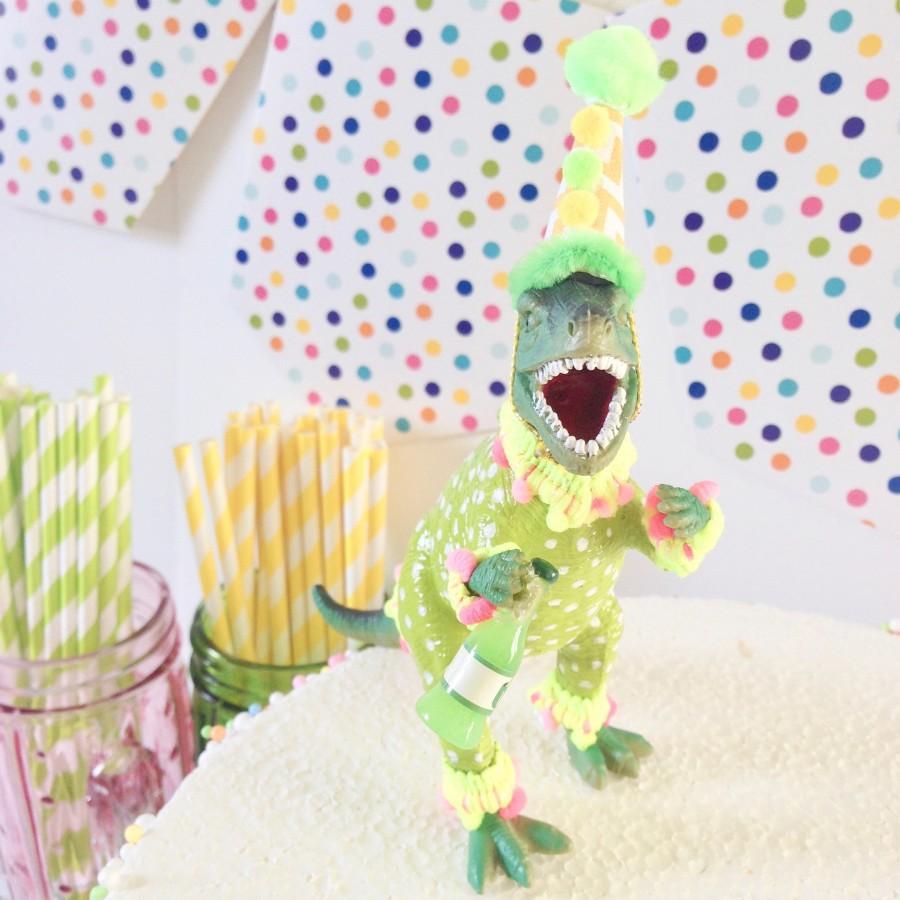 Hochzeit - T Rex-Dinosaur Cake Topper-Dinosaur Cake Topper-Dino Party Theme-Kids Cake Topper-Party Animal Topper-Party Centrepiece-Wild Party