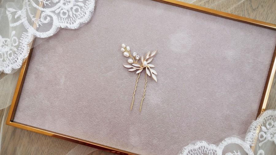 Hochzeit - Bridal hair pins, bridal hair accessories, wedding hair accessories, wedding hair pins, rhinestone and pearl hair pins, bridal headpiece