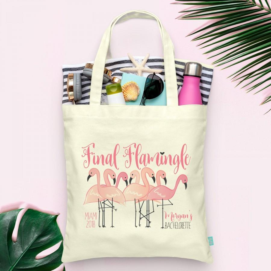 Mariage - Final Flamingle Last Flamingle Lets Flamingle Flamingo Bachelorette Party Totes- Wedding Welcome Tote Bag