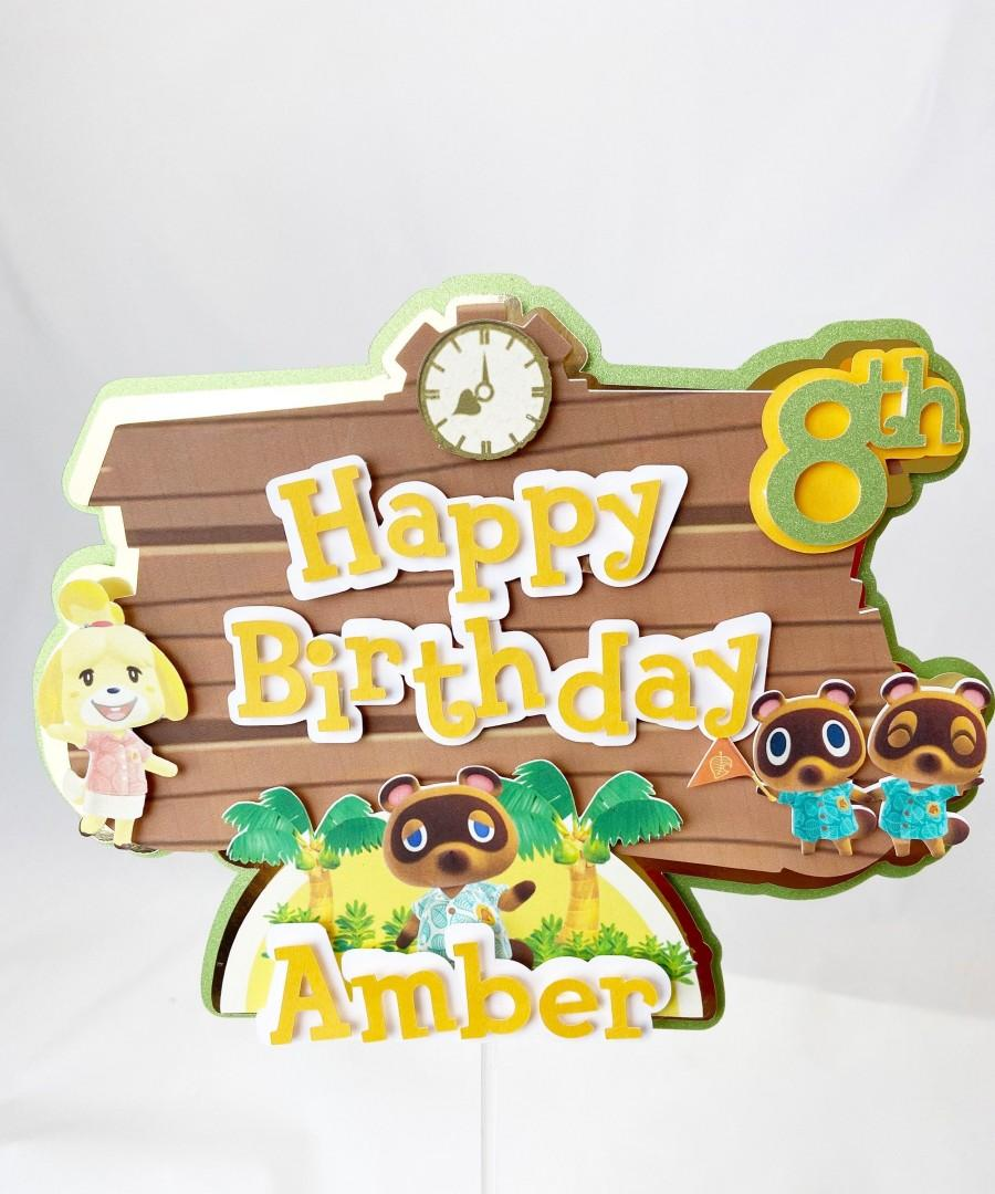 Mariage - Animal Crossing Cake Topper