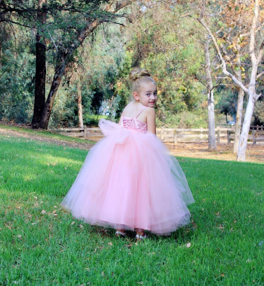 Hochzeit - Tulle Flower Girl Dress, Rhinestones Tutu Dress, Tutu Flower Girls Dresses, Formal Dresses, Wedding Tulle Dress, Junior Bridesmaid Dresses