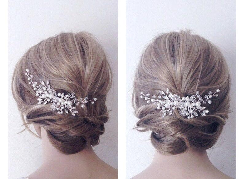 Wedding - Bridal hair piece,wedding hair piece,Bridal headpiece,bridal hair comb, wedding hair comb,Pearl Hair Vine, Wedding headpiece,bridal hairclip