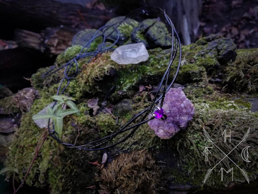 Wedding - Elvish crown, black elven tiara, aluminium elven circlet, elvish head dress, elven wedding jewelry, medieval bride, fantasy larp crown