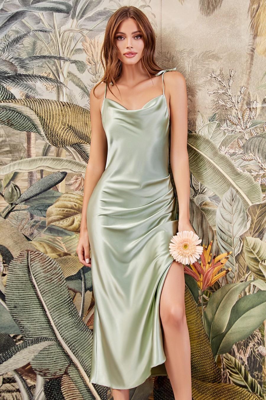 Wedding - The Marie Slip Satin Midi Bridesmaid Dress