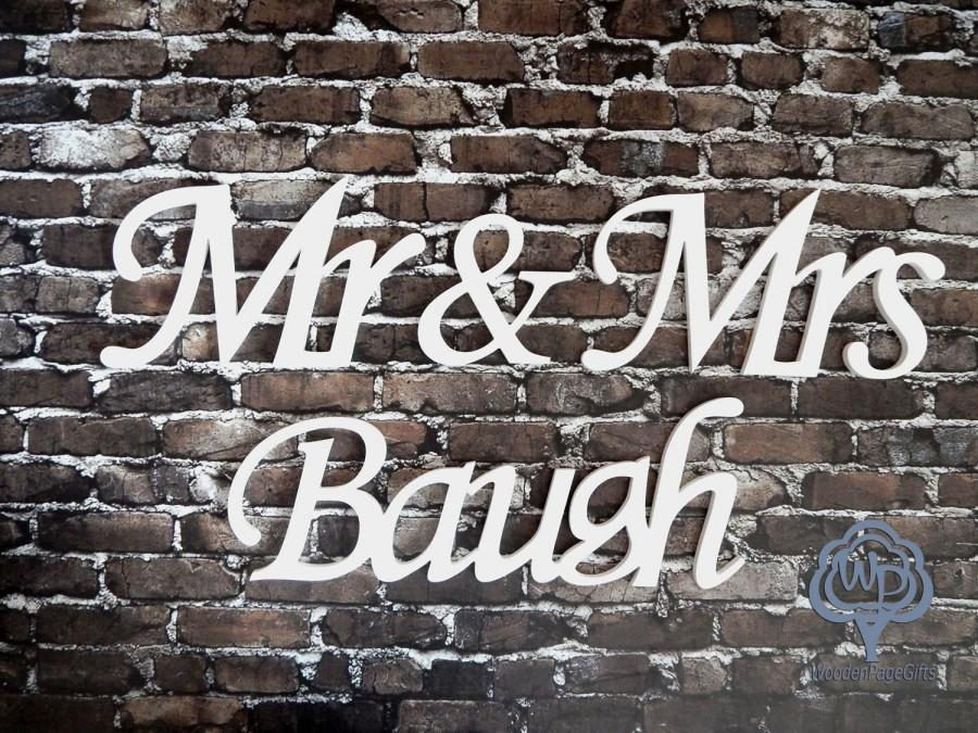 Wedding - Mr and Mrs Last name Mr and Mrs Table Sing Wedding name table sign, custom  table sign, mr and mrs name sign Wedding wooden letters