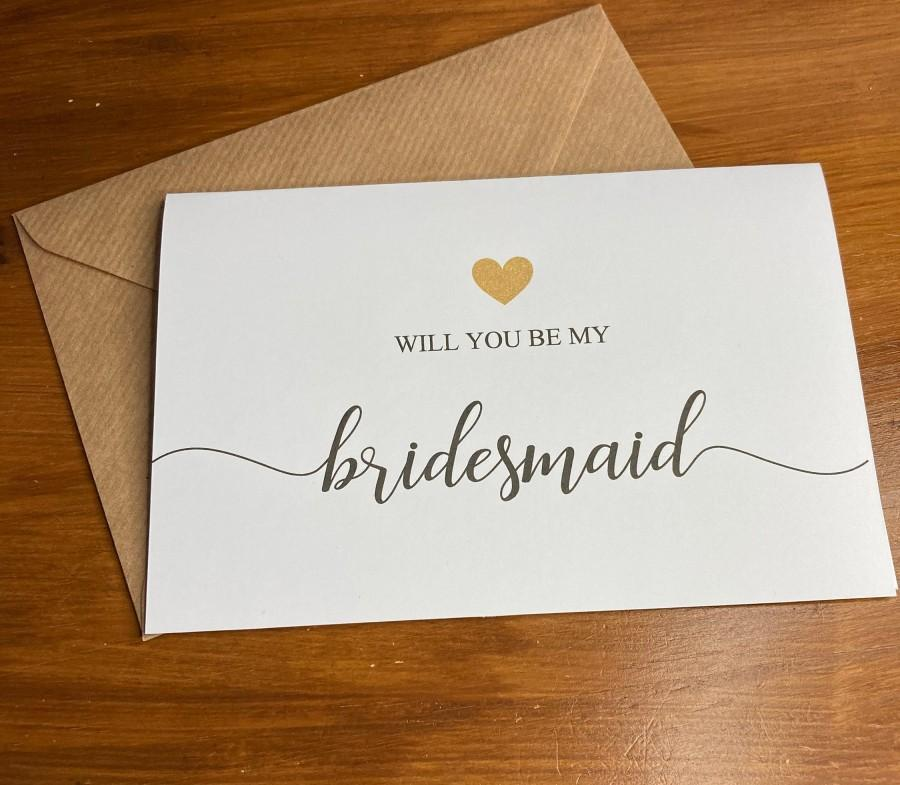 Wedding - Will you be my bridesmaid Card & Envelope/ different roles available ( Envelope can be Personalised )