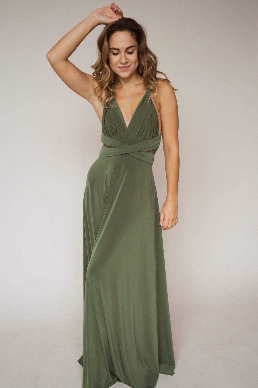 Wedding - Olive green bridesmaid dress, green dress, bridesmaids, olive green dress, long green dress, green bridesmaid dress, olive green bridesmaids