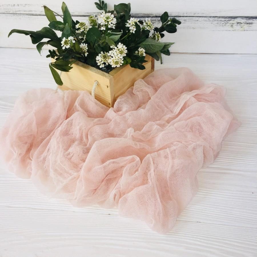 Mariage - Cream Blush Wedding Cheesecloth table runner, Wedding table runner,  Wedding Decor, Rustic Runner, Wedding arch Draping gauze chiffon
