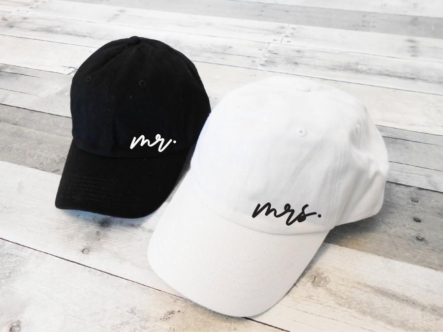Mariage - Mr and Mrs Dad Hats, Mr Mrs Hats, Honeymoon Hats, Mr Mrs Baseball Caps, Mr and Mrs Hats, Just Married Hats, mr dad hat, mrs dad hat