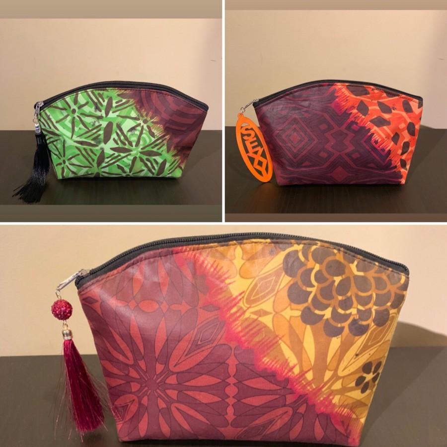 Wedding - Glamour Fasho Ankara Clutch or Large Cosmetic Bag!
