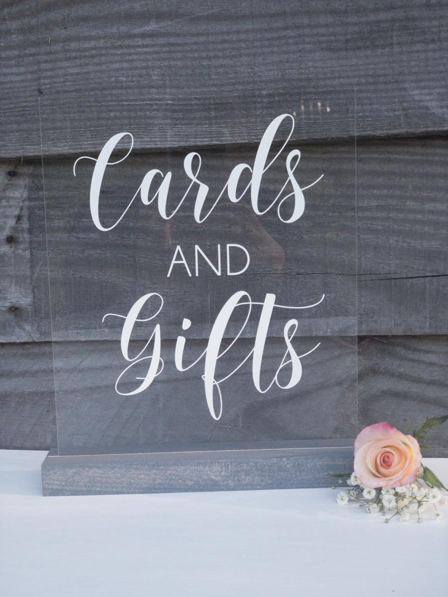 Wedding - Cards and Gifts Acrylic Sign