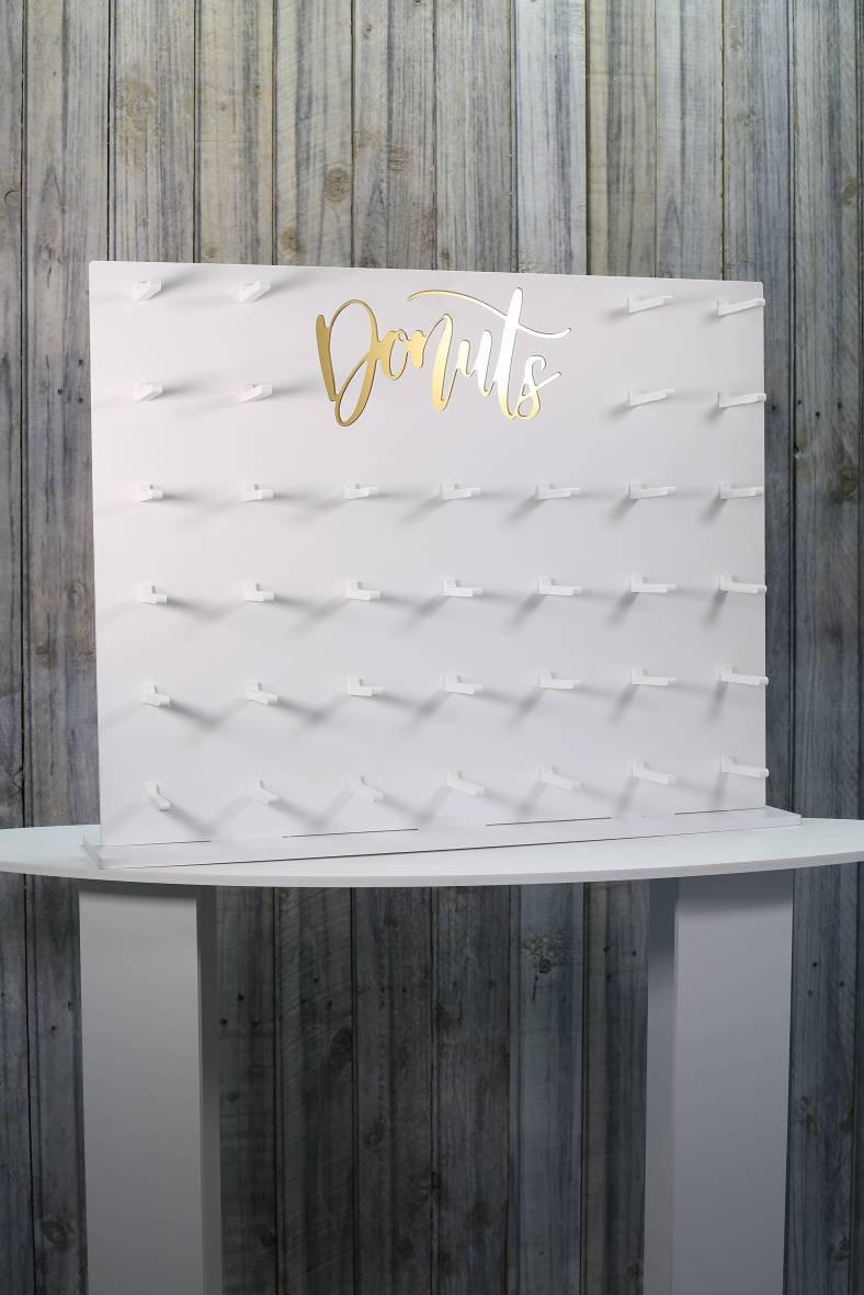 Wedding - Doughnut Wall Donut Wall White. Pictured Holds 36-72 Donuts. 71x58cm. Various  other size options available