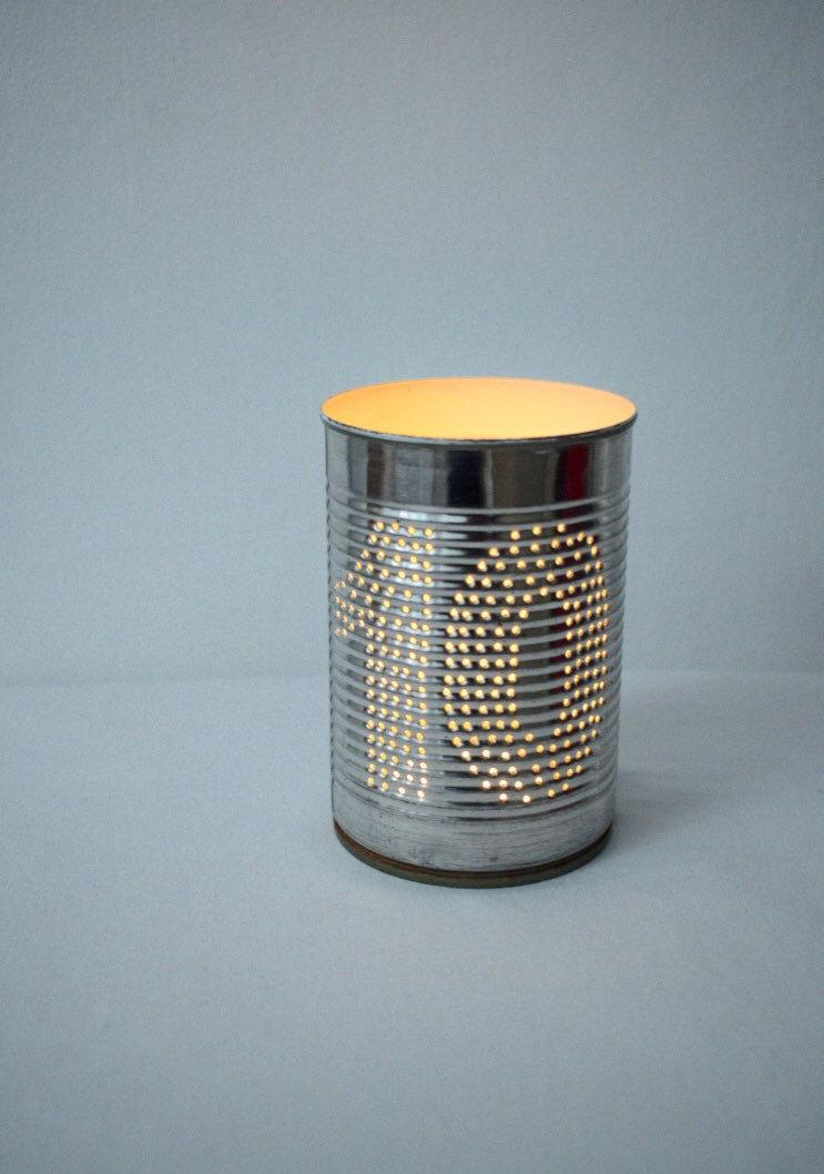 Wedding - Personalised Ten Year Wedding Anniversary Upcycled Tin Can Lantern