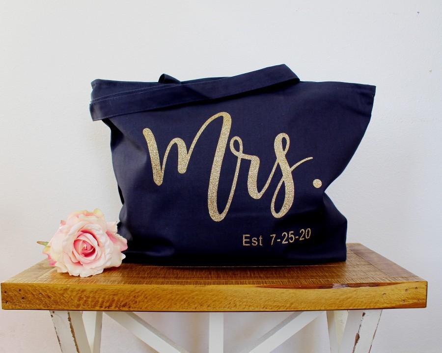 Свадьба - Bride Tote Bag, Custom Bride Bag with Zipper, Bride Gift, Future Mrs. Tote Bag, Large Canvas Tote Bag with Zipper